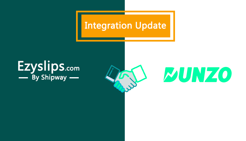 Integration Update: Enable Same day delivery with Ezyslips & Dunzo integration
