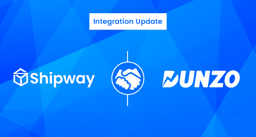 Integration Update: Enable Same day delivery with Shipway & Dunzo integration