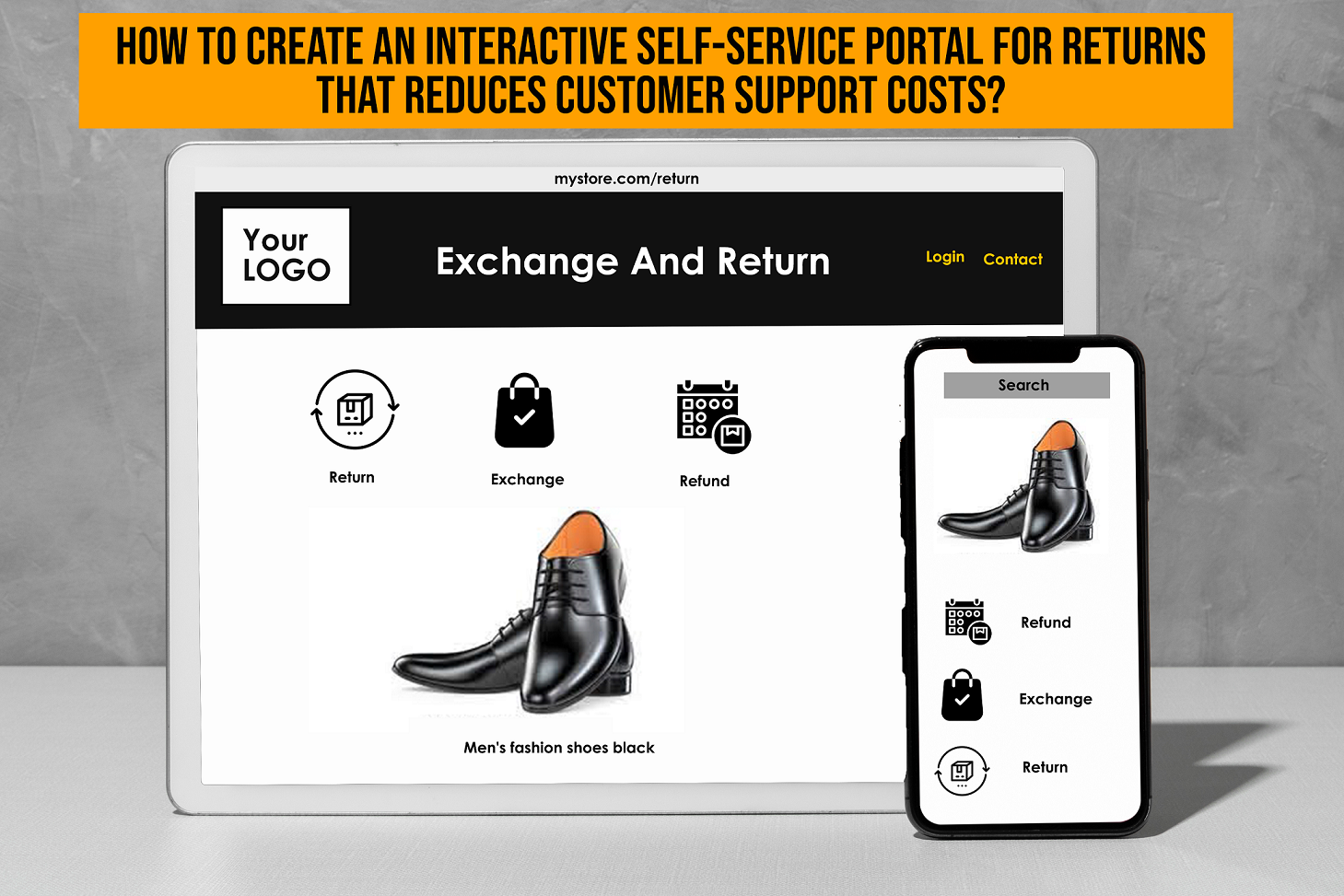 How to create an interactive self-service portal for returns that reduces customer support costs?