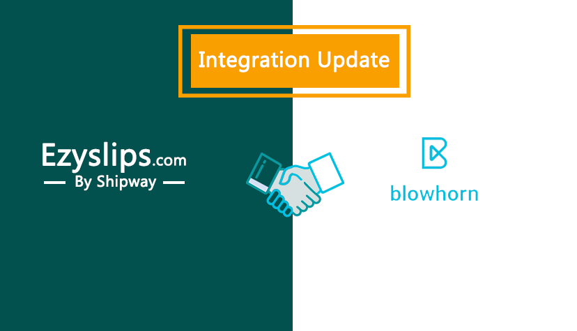 Integration Update: Enable Same day delivery with Ezyslips & Blowhorn integration